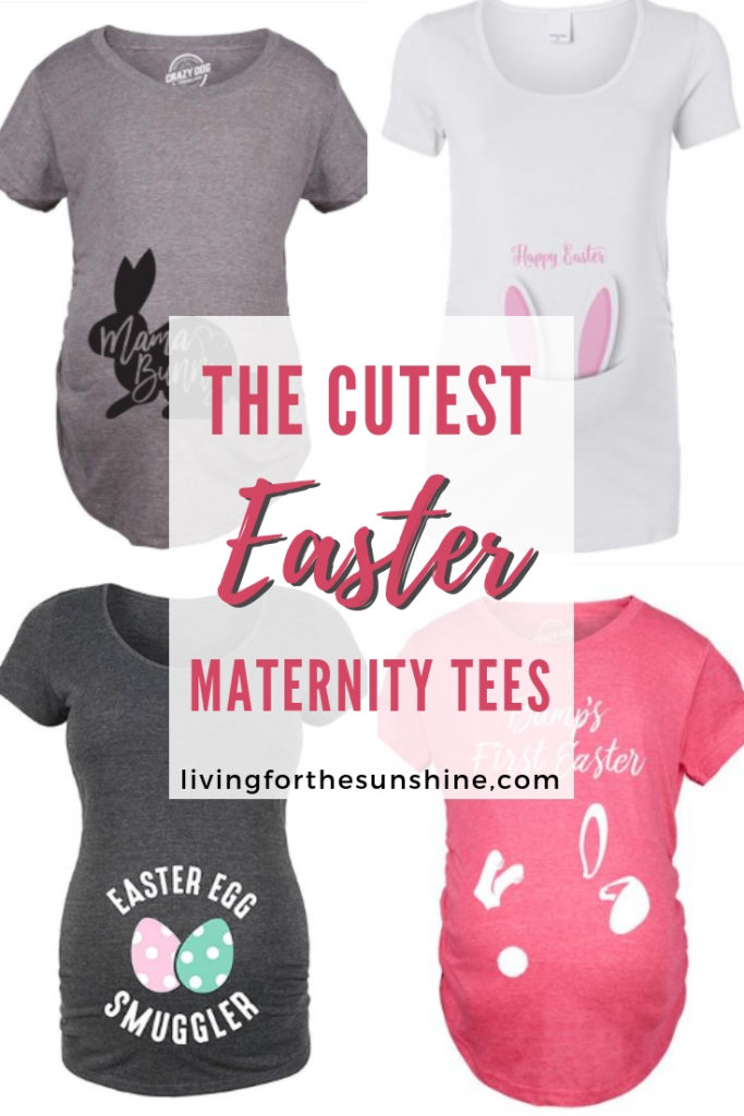 70dada45dce57 The Cutest Easter Maternity Shirts on Amazon - Living For the Sunshine