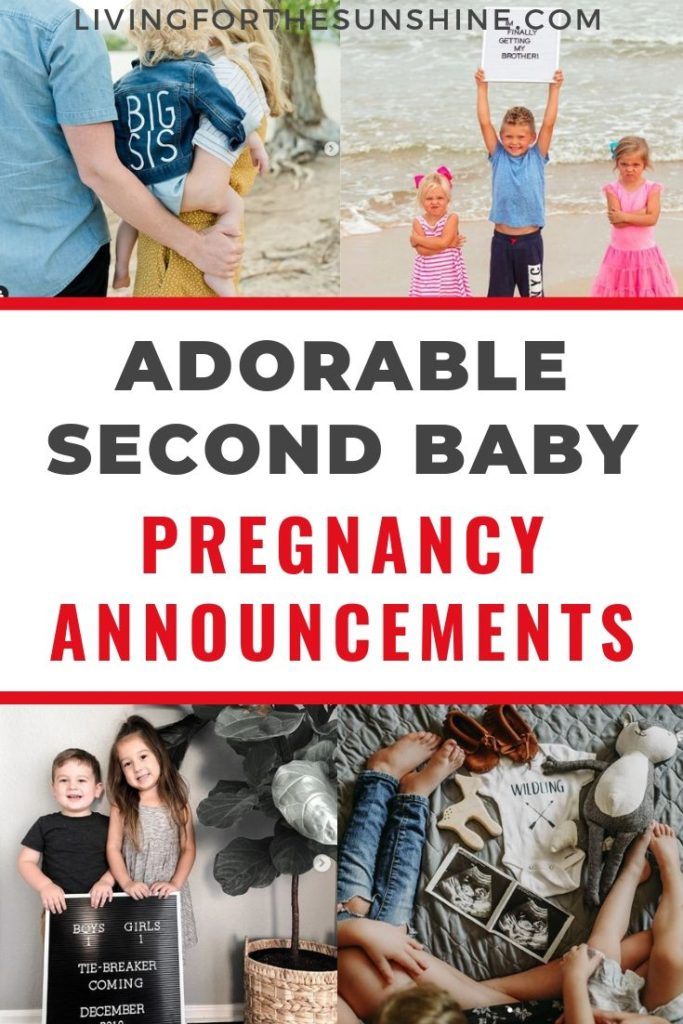 perfect pregnancy announcement wording for second child  or third or fourth