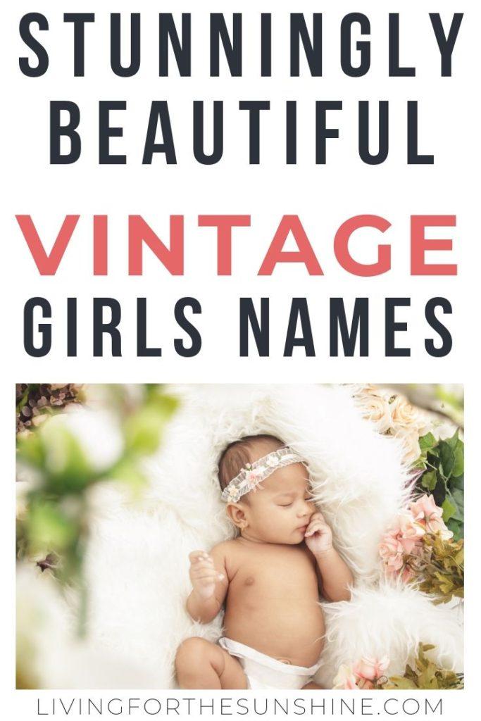 Pretty Vintage Names for Girls , Living For the Sunshine